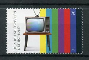 Allemagne-2017-neuf-sans-charniere-couleur-TV-television-50th-Anniv-1-V-SET-STAMPS