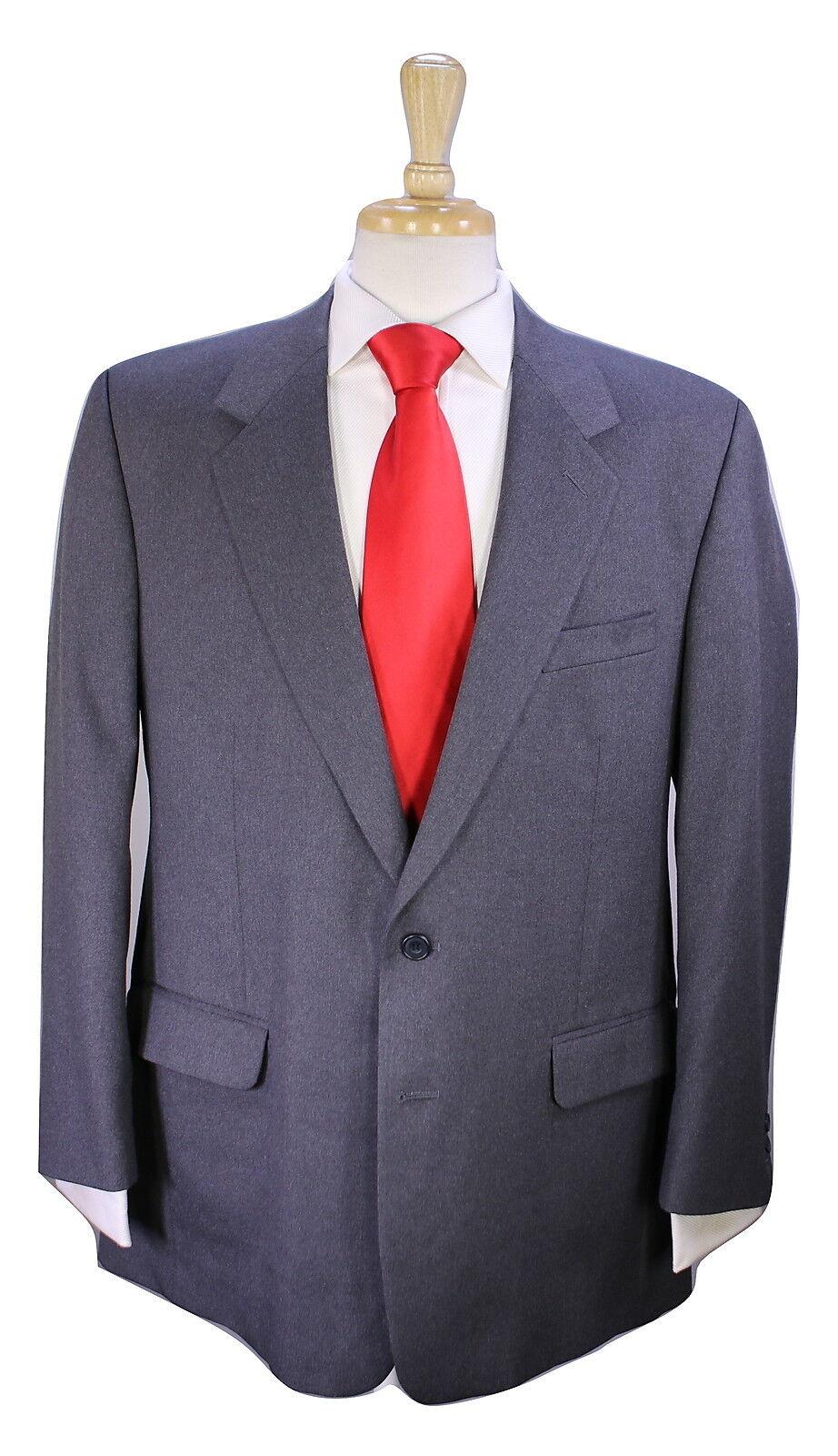 40 SAVILE ROW  London Bespoke Solid grau 2-Btn Canvassed Wool Suit 42R