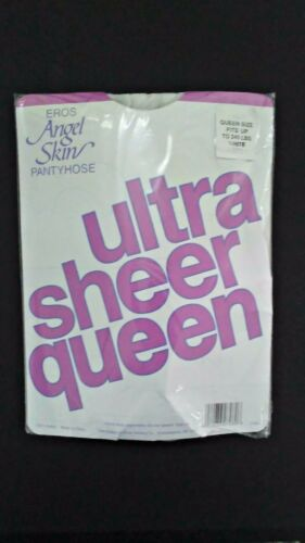Jet Black Eros Angel Skin NEW 100/% Nylon Ultra Sheer Pantyhose Queen Size
