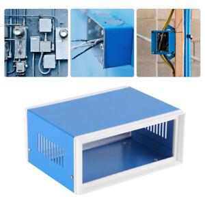 "6.7/""x5.1/"" x3.1/"" Blue Metal Enclosure Project Case DIY Junction Box 170x130x80mm"