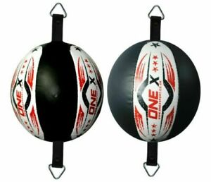 Round-Dodge-SpeedBall-Boxing-Floor-Ceiling-Leather-Punch-Bag-Training-Double-End