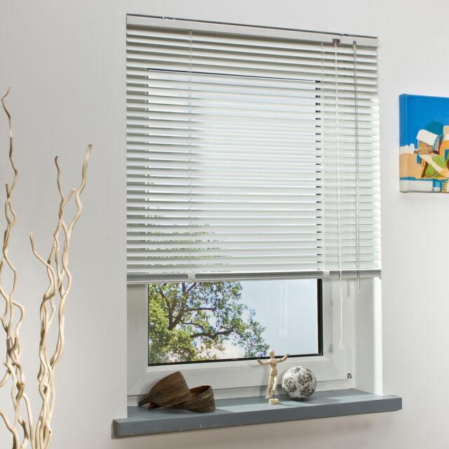 Alu Jalousie Jalousette Fenster Rollo Aluminium Fensterjalousie Weiß 90 x 220 cm