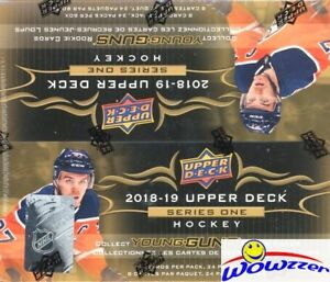 2018-19-UD-Series-1-Hockey-Factory-Sealed-24-Pack-Retail-Box-6-YOUNG-GUNS-Jersey