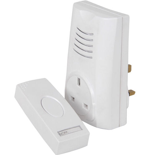 80 M wireless Remote Doorbell//Cordless Door Chime UK Plug Through –16 Myrtille