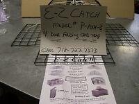 E-z Catch Premium Quality Folding Crab Pot Pvc Coated Trap Black 4 Door Cage
