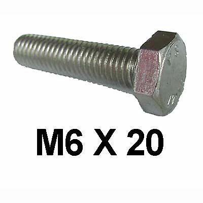 M6 x 20 Stainless Steel Hex Bolts / Set Screws 6mm x 20mm Stainless Bolts DIN933