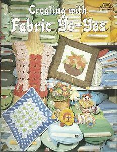 Creating with fabric yo yos craft full size pattern book for Yo yo patterns crafts