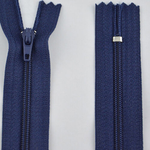 10x ZIPS INVISIBLE//CONCEALED P/&P COLOURS NYLON ASSORTED FREE New JS