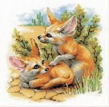 RIOLIS 1636  Desert Foxes  Kit  broderie  Point de Croix  Compté