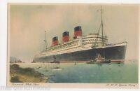 Cunard White Star RMS Queen Mary Shipping Art Postcard, B568