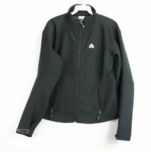 6fffb726f5ed4 Details about Nike ACG Mens Small Spell Out Full Zip Soft Shell Outdoor  Athletic Jacket Black