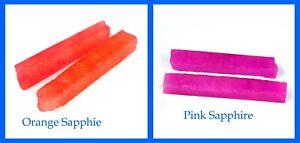 240 Ct 4 Pcs Pink & Orange Sapphire Gemstone Slice Rough Lot Natural Gift Sales