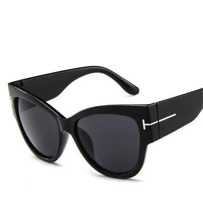 Men Women Black Cat Eye Sunglasses Fashion T Letter Glasses Eyewear Retro Shades