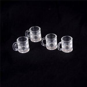 4-pcs-1-12-Doll-house-Miniature-kitchen-tableware-plastic-beer-mug-glass-cupsE9C