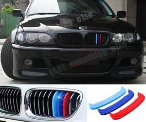 Details About Bmw 3 E46 M3 Coupe Convertible Grille M 3 Tri Colour Cover Cap Clip Strip Trim