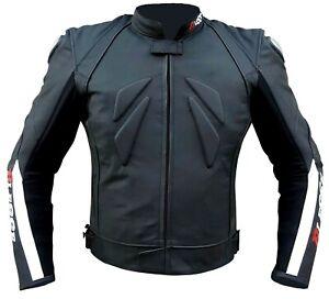Giacca-Moto-in-Pelle-Uomo-Technica-Racing-Regolabile-Protezioni-Titanium
