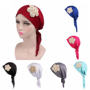 Bandana Head Scarf Turban Pre-Tied Headwear Chemo Hat Tichel for ... 0885700249fc