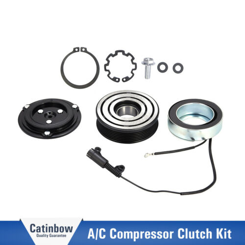 AC A//C Compressor Clutch Pulley Bearing Coil Plate kit For Mini Cooper 2002-2008