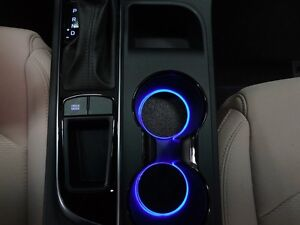 led cup holder lights blue leds fits 2015 2017 hyundai sonata custom mods ebay. Black Bedroom Furniture Sets. Home Design Ideas