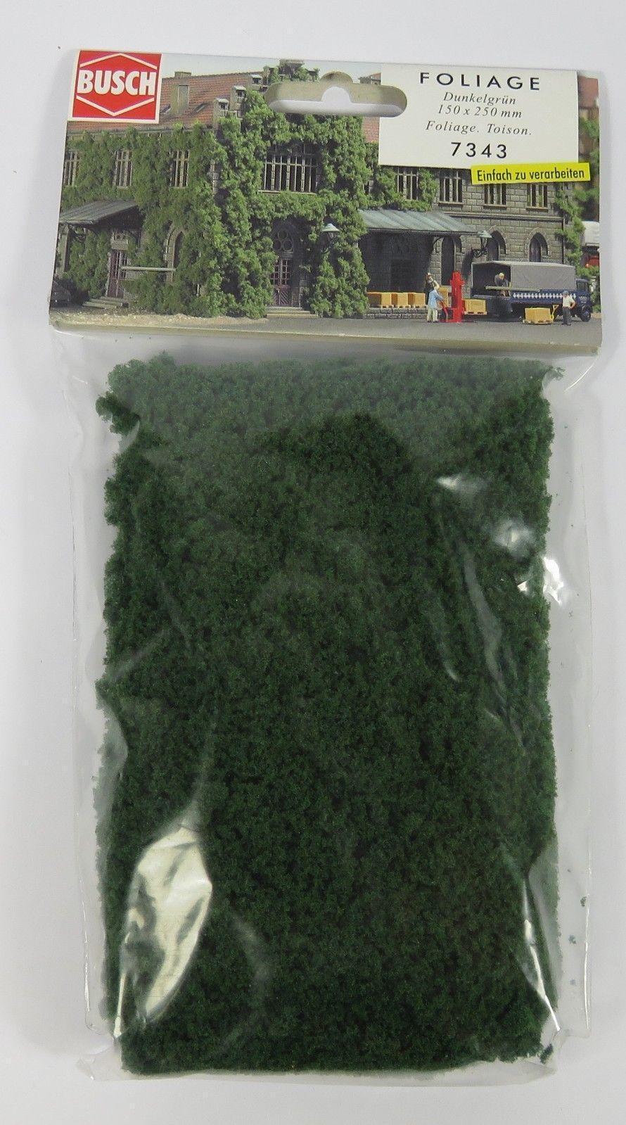 Busch 7333 NEW FOLIAGE MATERIAL DARK GREEN