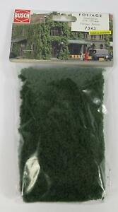 BNIB-BUSCH-7343-DARK-GREEN-FLOCK-FOLIAGE-SHEET-CLUMP-MODEL-RAILWAY-SCENERY-OO-N