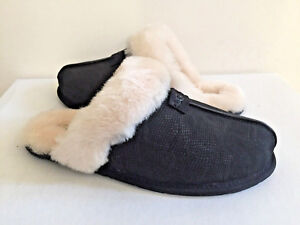 3739f95c7f5 Details about UGG SCUFFETTE II SNAKE BLACK WOOL SLIPPERS US 12 / EU 43 / UK  10.5 NIB