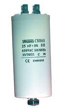 Condensateur moteur de démarrage / permanent 25µF 25uF 450V à cosses + vis CBB60