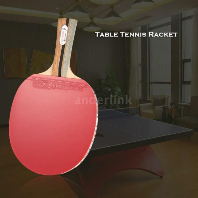 Wooden Hand Table Tennis Racket Ping Pong Paddle Bat Shakehand Grip Racket D9H8