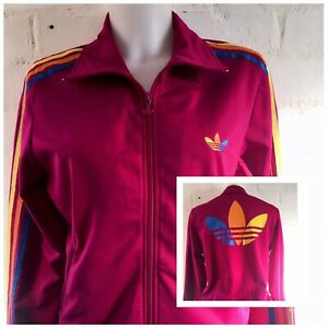 Women-s-Adidas-Originals-Tracksuit-Top-Size-16-Pink-Casual-Gym-Jacket