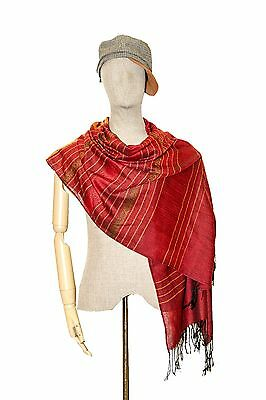 Stripe Scarf Large Women Shawl Scarves Cover Wrap Silk Cotton Pashmina Cape New