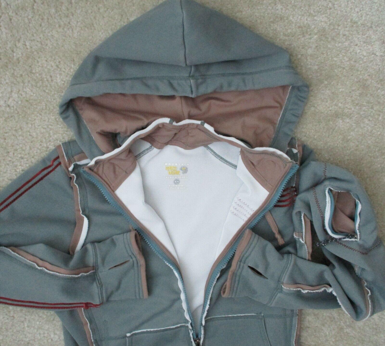Mountain Hard Wear Womens S Lightweight Stretch Full Zip Performance Hoodie Coat