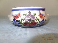 Wechsler Tironkeramik Hand Painted Austria Schwaz Tab Handled Bowl