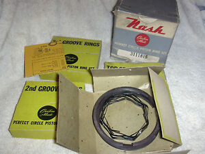 NASH AMBASSADOR SET OF PISTON RINGS 1941 & 1942 6 CYL