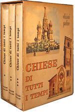 Chiese di tutti i tempi 3 voll. Edizioni Paoline 1959