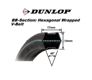 Replacement K525371420 Main Deck Belt GR1600 KCK42 Kubota K5253-71420 DUNLOP