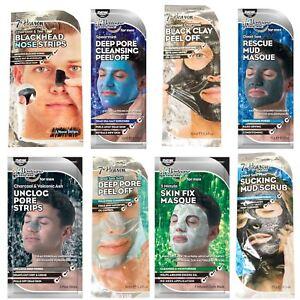 Men's Face Masks Charcoal Nose Strips Deep Pore Cleansing Peel Off Mud Skin Fix