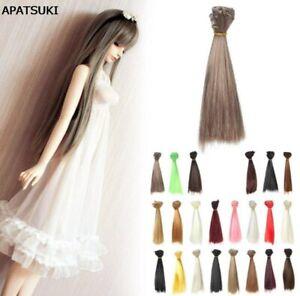 15-100cm-DIY-Doll-Wigs-Hair-For-BJD-SD-Doll-Hair-Multi-colors-Straight-Hair-Wigs