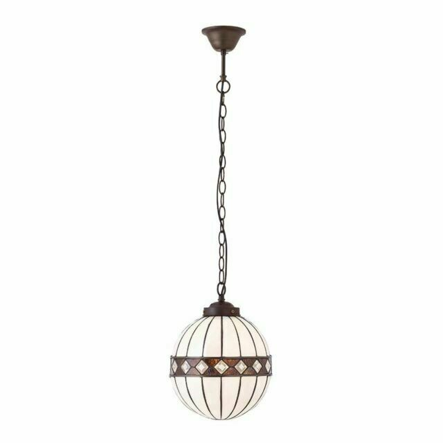 Fargo Small Tiffany Style One Light Globe Ceiling Pendant Interiors 1900 67044