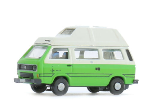 Lemke lc4334-VW t3 Westfalia Camper VERDE-BIANCO-Spur N-NUOVO