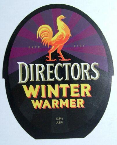 Beer Pump Clip Badge Plastic Courage Directors Winter Warmer PB212