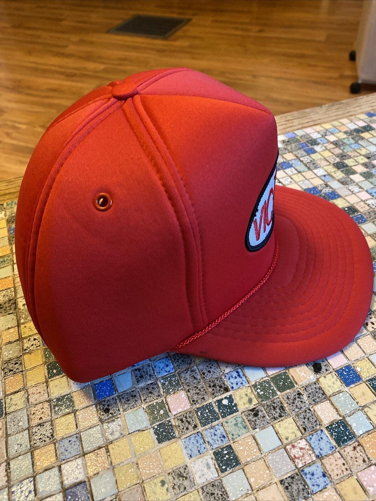 Vintage Victory Oil Snapback Trucker Hat, Red Foa… - image 2