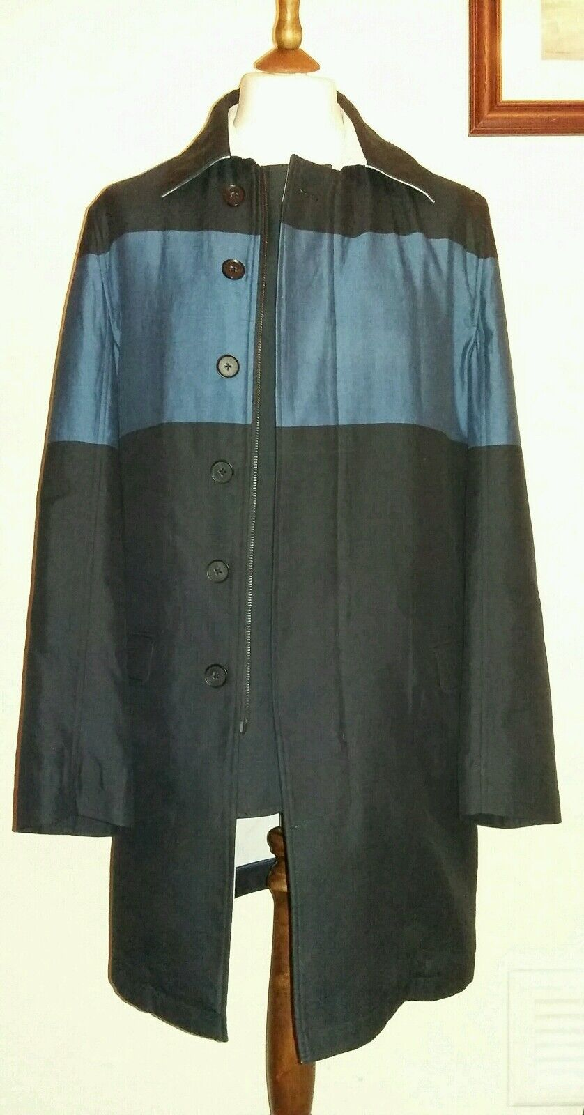 DKNY Slim Fit Lightweight Coat Navy Größe 40R