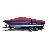 Fishing Ski Premium Trailerable Boat Cover Fits 16' -18.5'l Maroon /burgunday