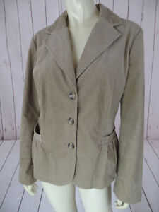 Talbots-Petite-Blazer-16P-Honey-Tan-Cotton-Spandex-Blend-Thin-Wale-Corduroy-CHIC