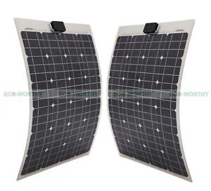 80watt 2 40w Mono Semi Flexible Solar Panel W Aluminum