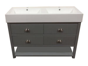 bathroom vanity unit with double sink 1200mm wide painted wash stand rh ebay co uk
