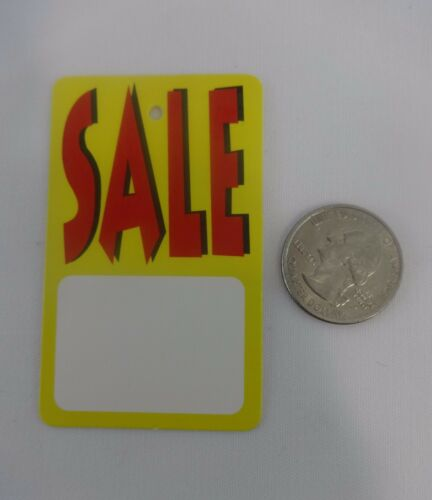 Yellow White SALE Unstrung Merchandise Sale Price Tags 500 Red