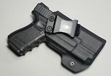 Concealment IWB holster for Glock with lights adjustable cant and retention.