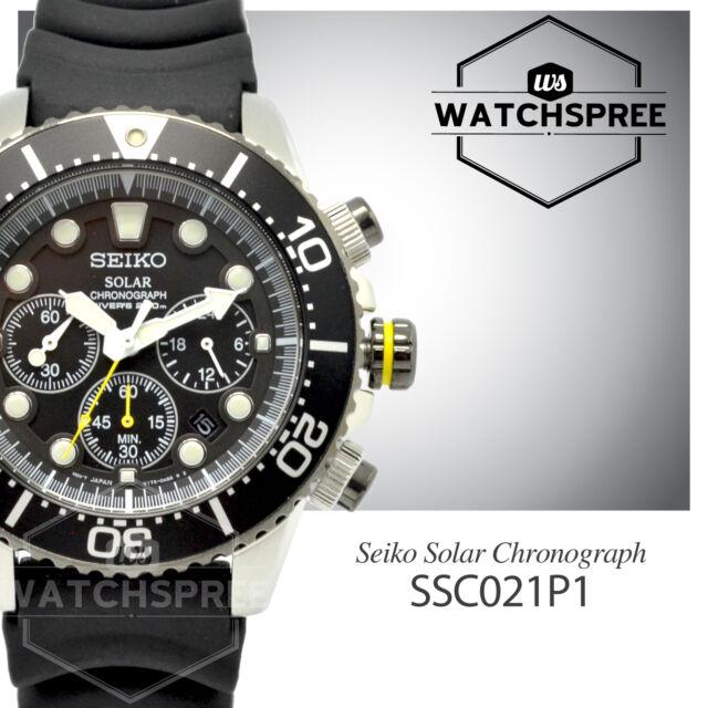 Seiko Men Chronograph Diver Solar Watch SSC021P1 AU FAST & FREE
