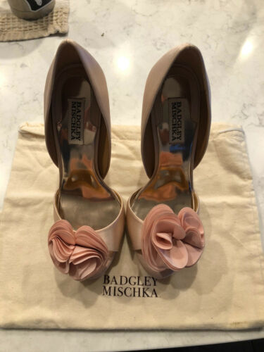 Badgley Mischka Thora Pink Satin Women's Heels Sho
